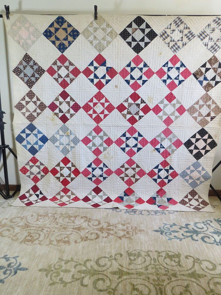 Details About Vintage 30 S Handmade Lone Star Quilt