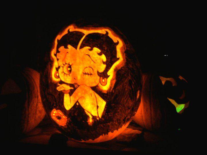 Betty Boop Carved Pumpkin