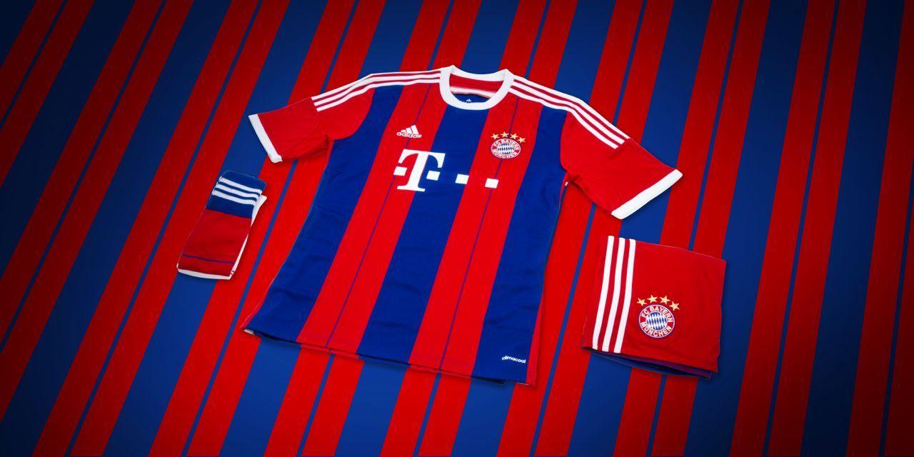 Adidas Reveals FC Bayern Home 2014/15 Kit - http://www.dmarge.com/2014/05/adidas-fc-bayern-home-kit-201415.html