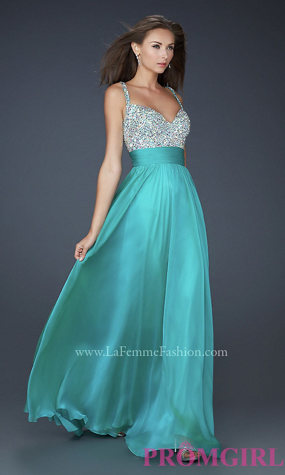 Gorgeous teal blue La Femme Prom Dress. The beautiful heart-shaped ...