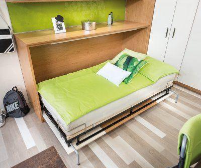 Jugendzimmer Platz sparen mit einem Schrankbett P.MAX