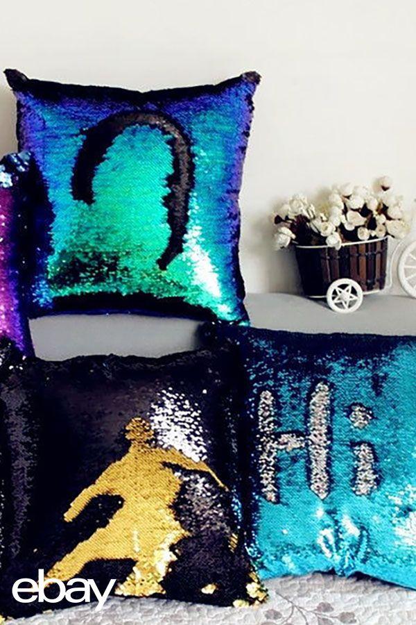 A precious Mermaid Sequin Pillow Case