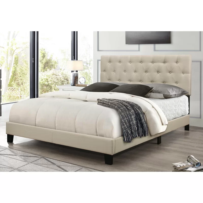 Drusilla Upholstered Standard Bed Upholstered Panel Bed Queen