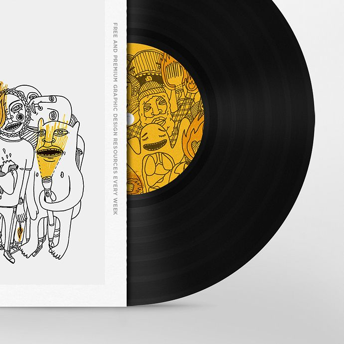 Simple Solution For Displaying Your Album Cover Designs Just Replace The Smart Objects With Your Own Graphics Disenos De Unas Diseno Grafico Graficos