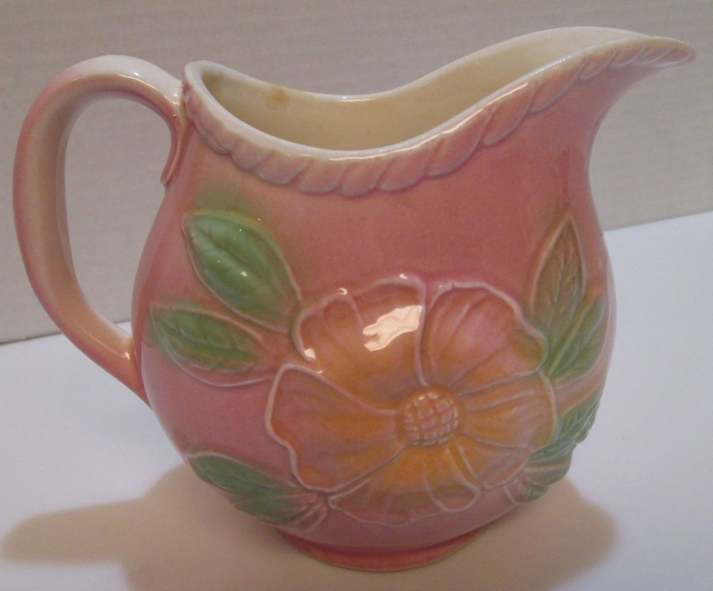 Vintage hull pottery sunglow pitcher pink w flowers 52 24 oz vintage hull pottery sunglow pitcher pink w flowers 52 24 oz usa beautiful reviewsmspy