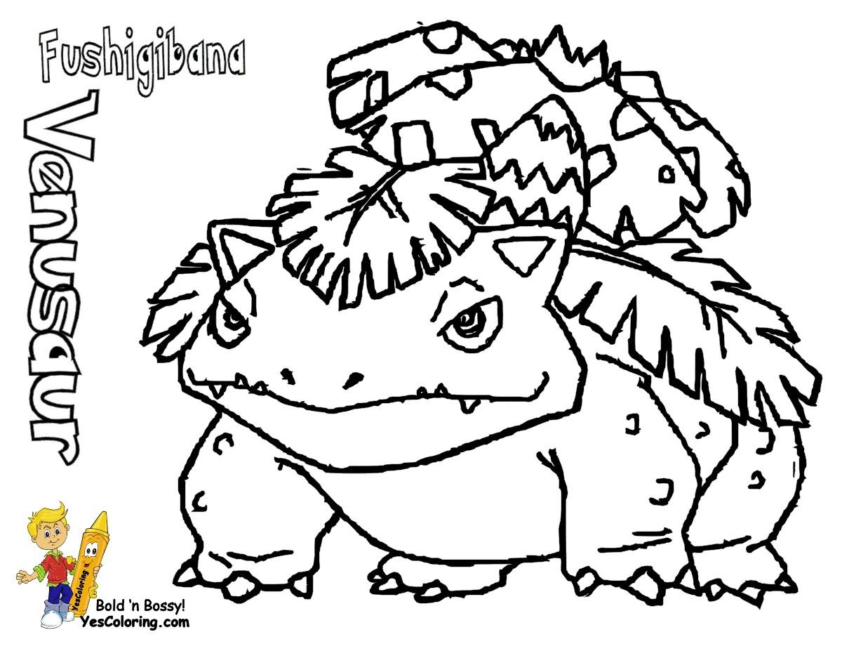 Pokemon Venusaur Coloring Pages