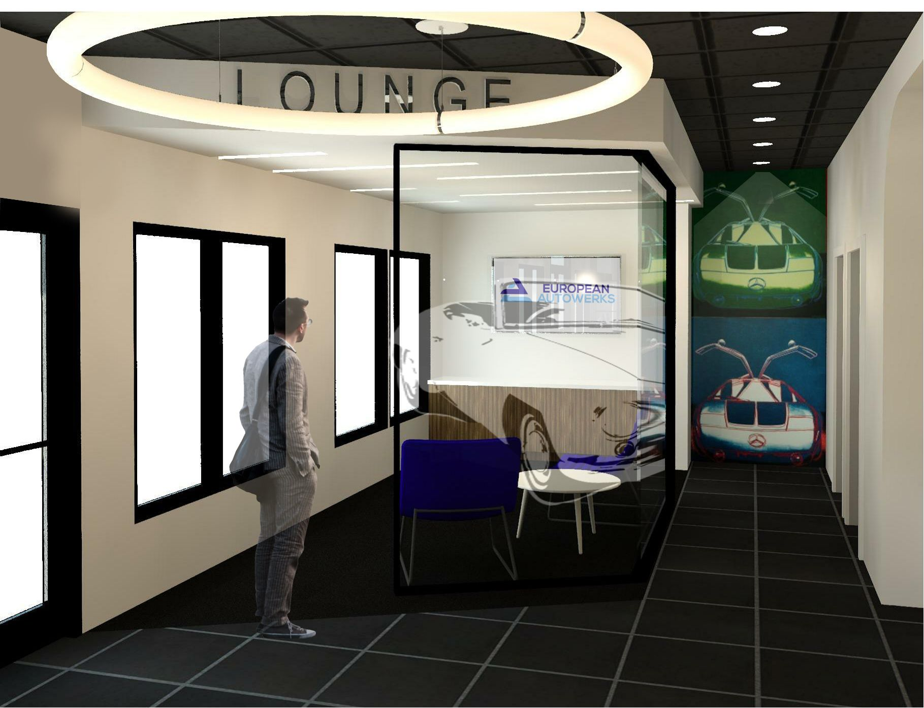 Car Service Center Interior Design And Renderings Hospital Interior Design Interior Design Interior