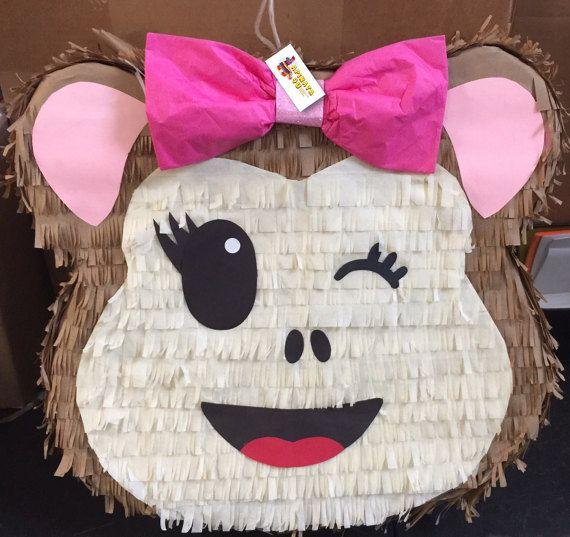 56be3d168130 Envío rápido mono Emoticon Pinata | piñatas | Piñata minions ...