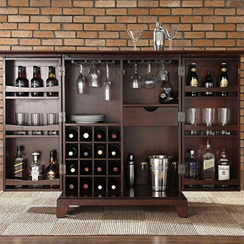 Crosley Furniture Newport Expandable Bar Cabinet In Vintage Mahogany Finish Http Www Furnituressale Com Crosley Furn Bar En Casa Mueble Bar Minibares En Casa