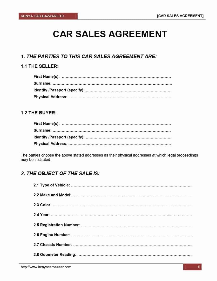 Private Sale Car Payment Agreement Unique Car Resale Agreement Format Detail Purchase And Sales For Sale Sign Contract Template Purchase Agreement