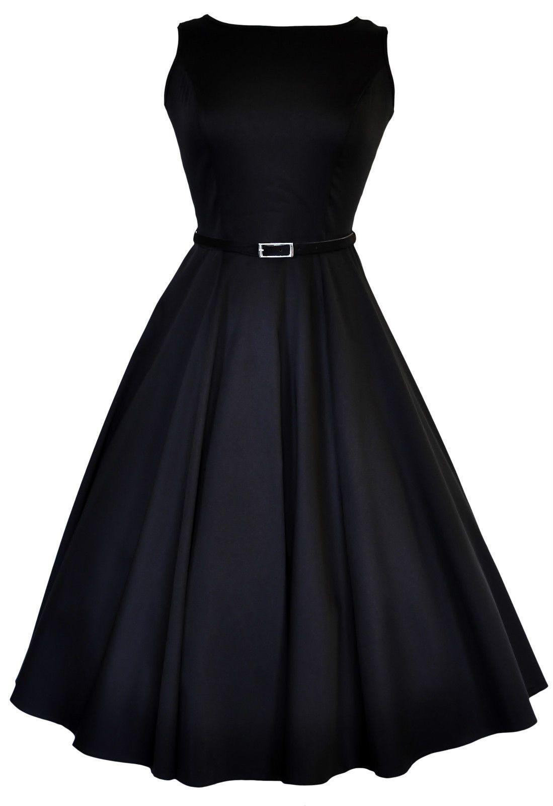 The Audrey Hepburn Dress : Classic Black