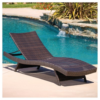 Toscana Wicker Patio Lounge Brown Christopher Knight