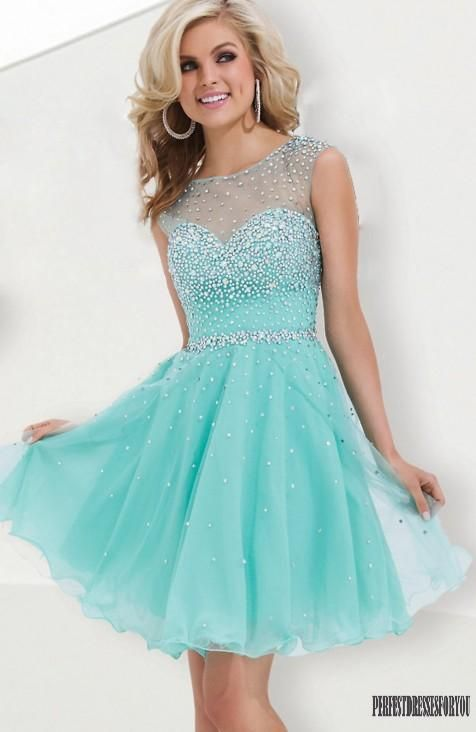 Teal Short Formal Dresses