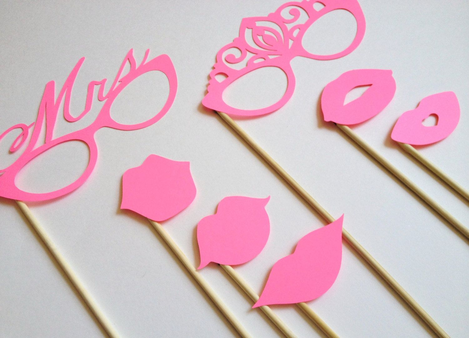 Wedding Photo Booth Props Team Bride 7 Pieces by CleverMarten, $5.00 ...