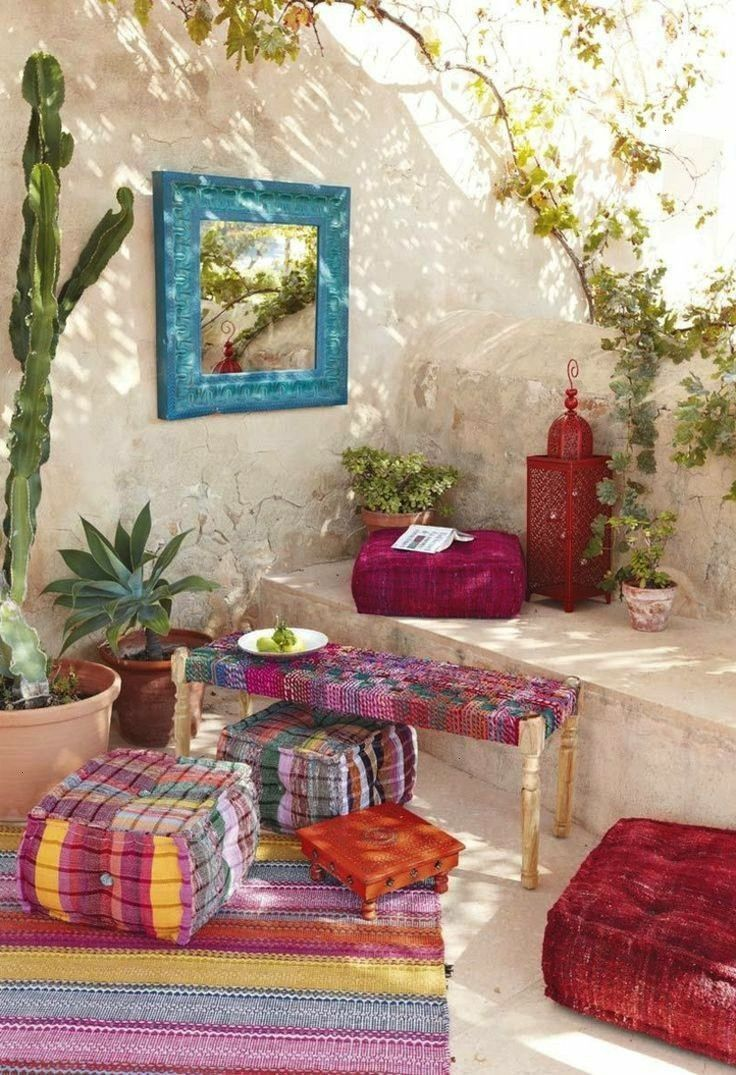 ideas for balcony Decoration in boho chic lend personality  Great ideas for a balcony Deco in boho chic lends personality Idea sprin Great ideas for balcony Decoration in...