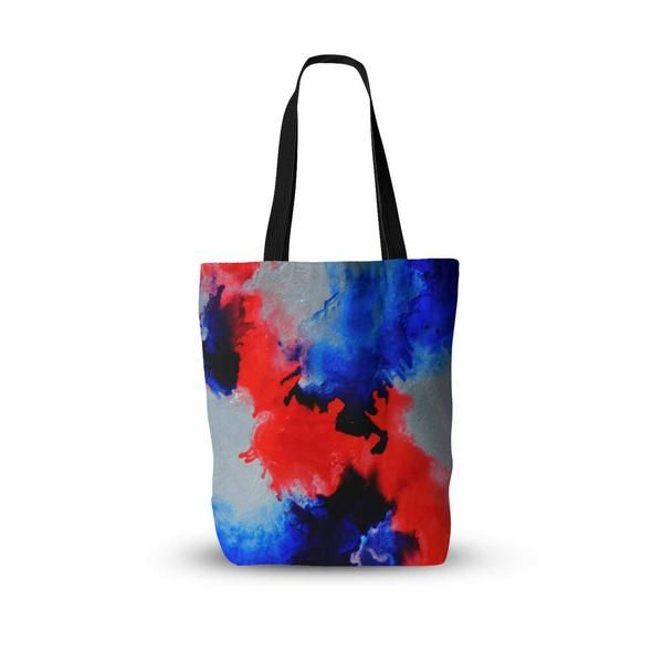 """Claire Day """"Glory"""" Blue Purple Abstract Painting Everything Tote Bag - KESS InHouse  - 1"""