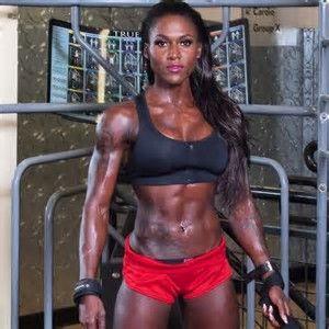 Ebony female muscles
