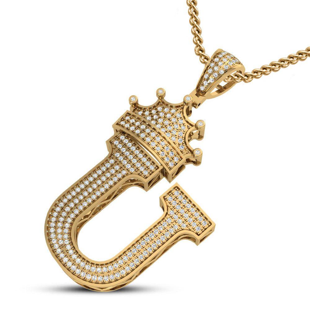 Rose Gold Diamond Cut Angel Large Pendant