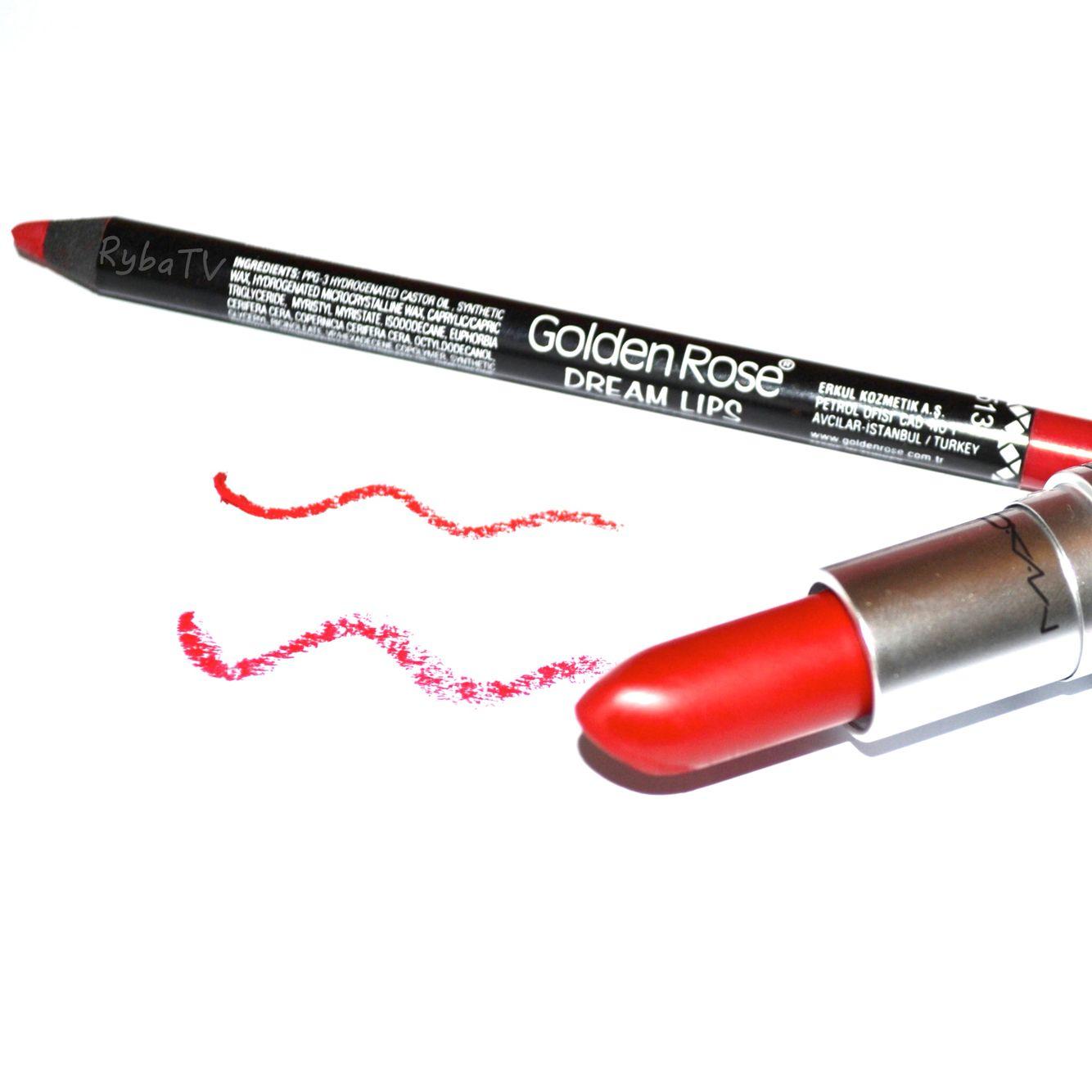 Mac Cosmetics Lipstick Blue Under Tone Ruby Woo Golden Rose 513 Lip