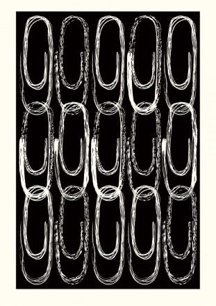 'Paper Clips' by artist Maria Hatling. via Gallery Bobbin