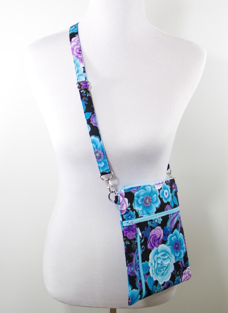 Zip Away cross-body bag PDF sewing pattern | Šití | Pinterest | Bolsos