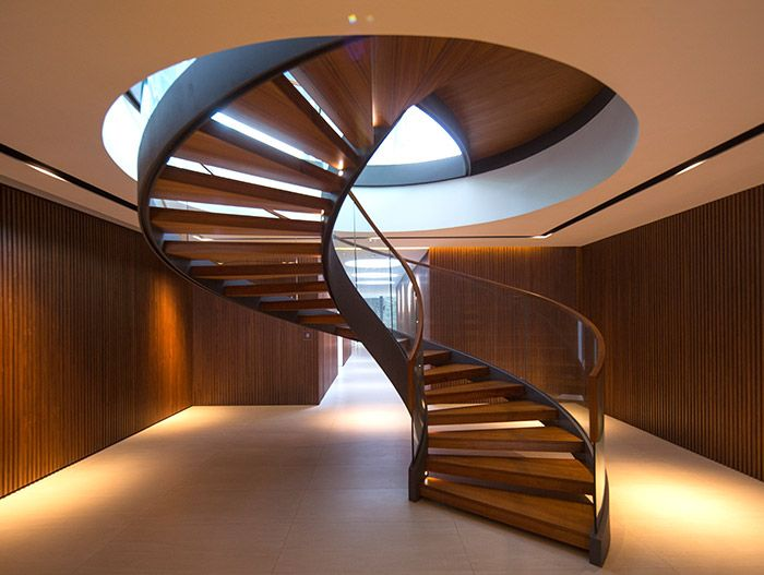 Secret Garden House: Amazing Spiral Staircase In A Contemporary Home In  Singapore By Wallflower Architecture
