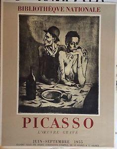 Picasso-Affiche-Lithographie-Paris-Mourlot-1955-Bibliotheque-Nationnale