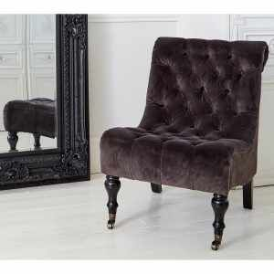 The Rock Luxe Seat - Black Velvet French Bedroom Furniture ...