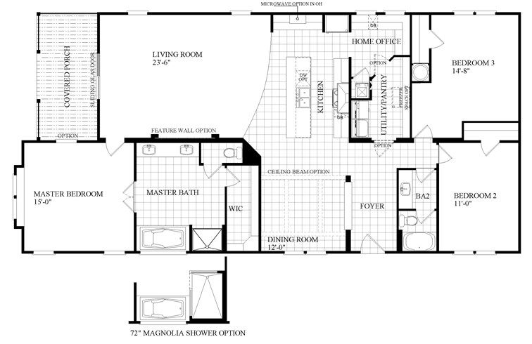 The The Littlefield Floor Plan This Manufactured Mobile Home Features 3 Bedrooms And 2 Baths Clayton Homes Mobile Home Floor Plans Modular Floor Plans