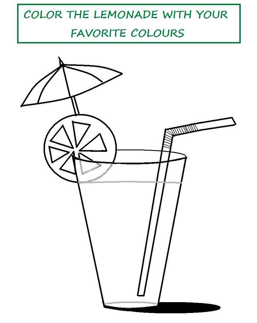 Flip Flop Coloring Pages Tasty Lemonade Printable Page
