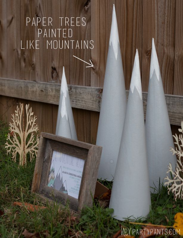 Simple Details For A Simple Mountain Theme Shower From Herpartypants