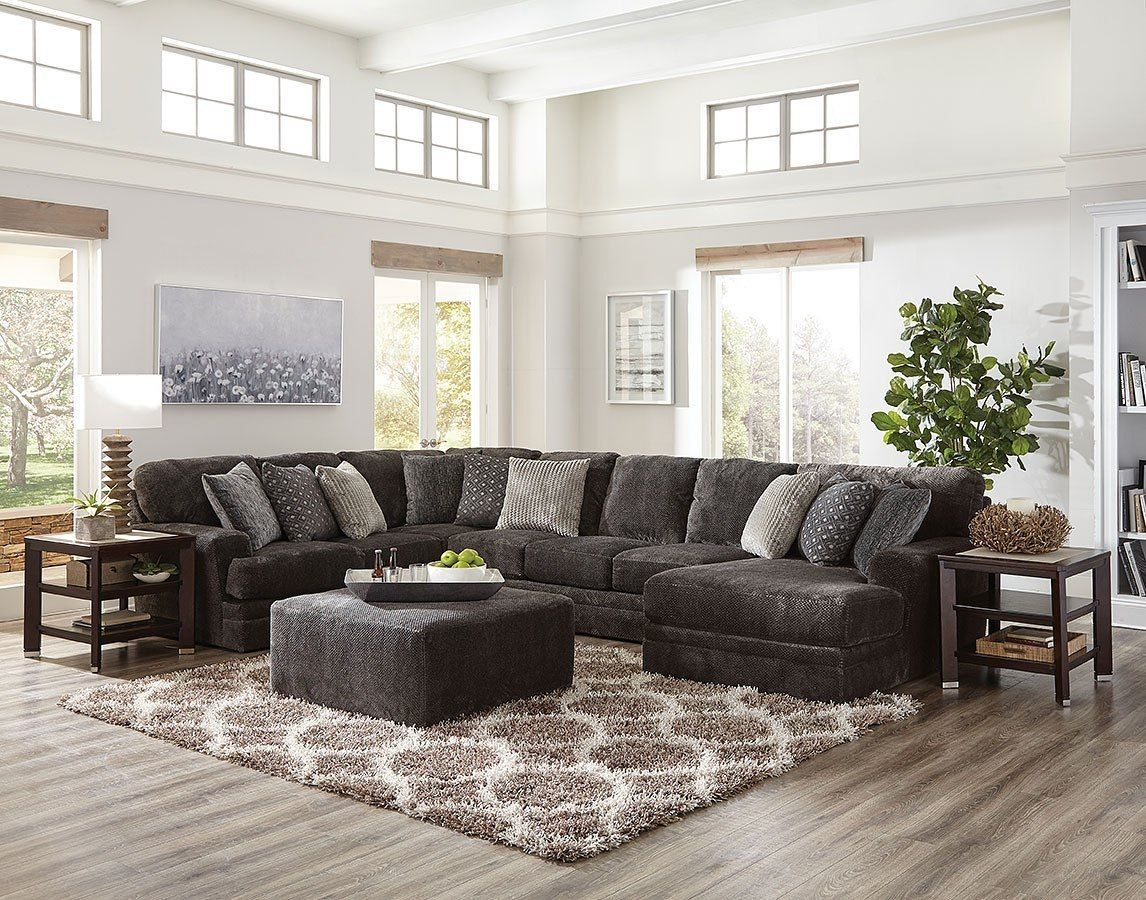 Mammoth Modular Sectional W Chaise Smoke Cheap Living