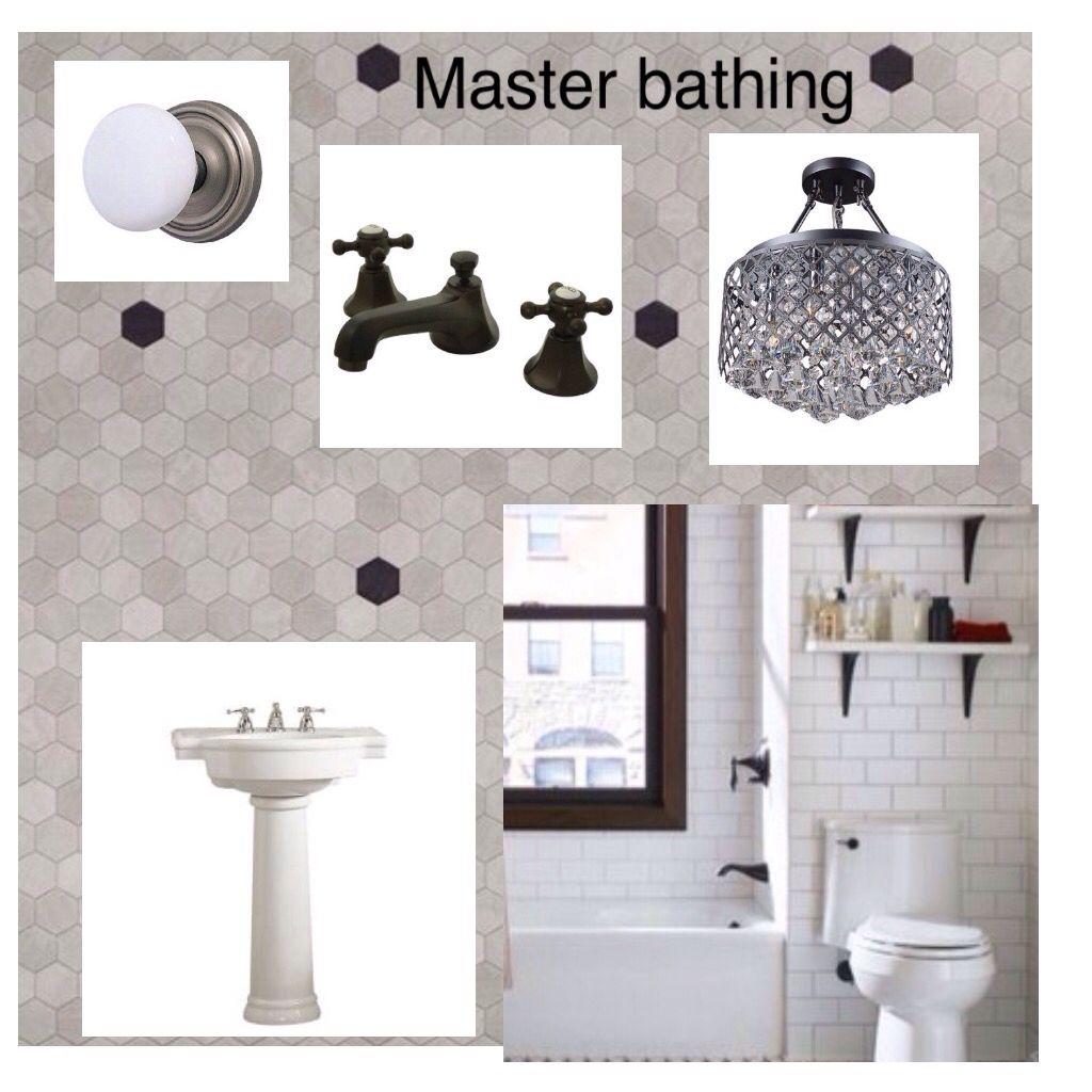 General Idea For The Master Bath White Tub Pedestal Sink