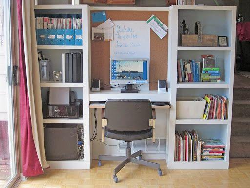 Bookshelves computer desk likes pinterest