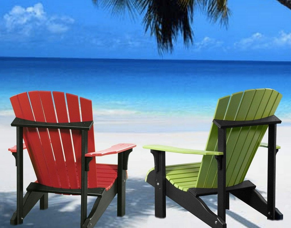 Twin Colorful Adirondack Chairs Home Decorating Ideas Home