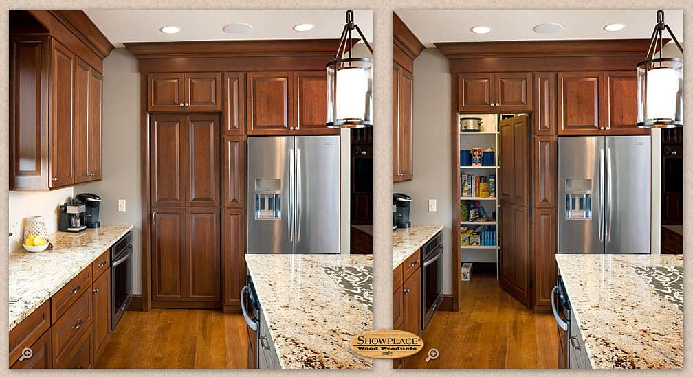 Blind corner pantry. Hidden pantry in corner. Use pocket door ...