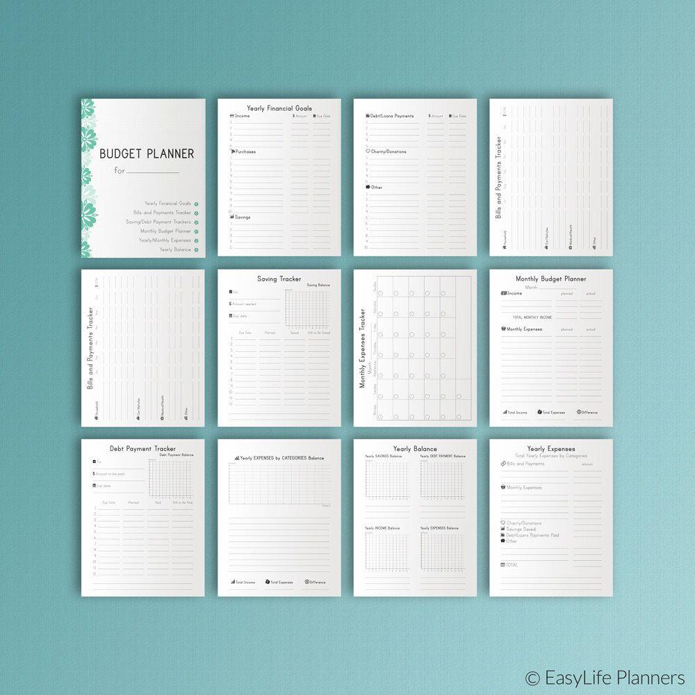 Budget Planner Happy Planner Insert Pdf Erin Condren  X