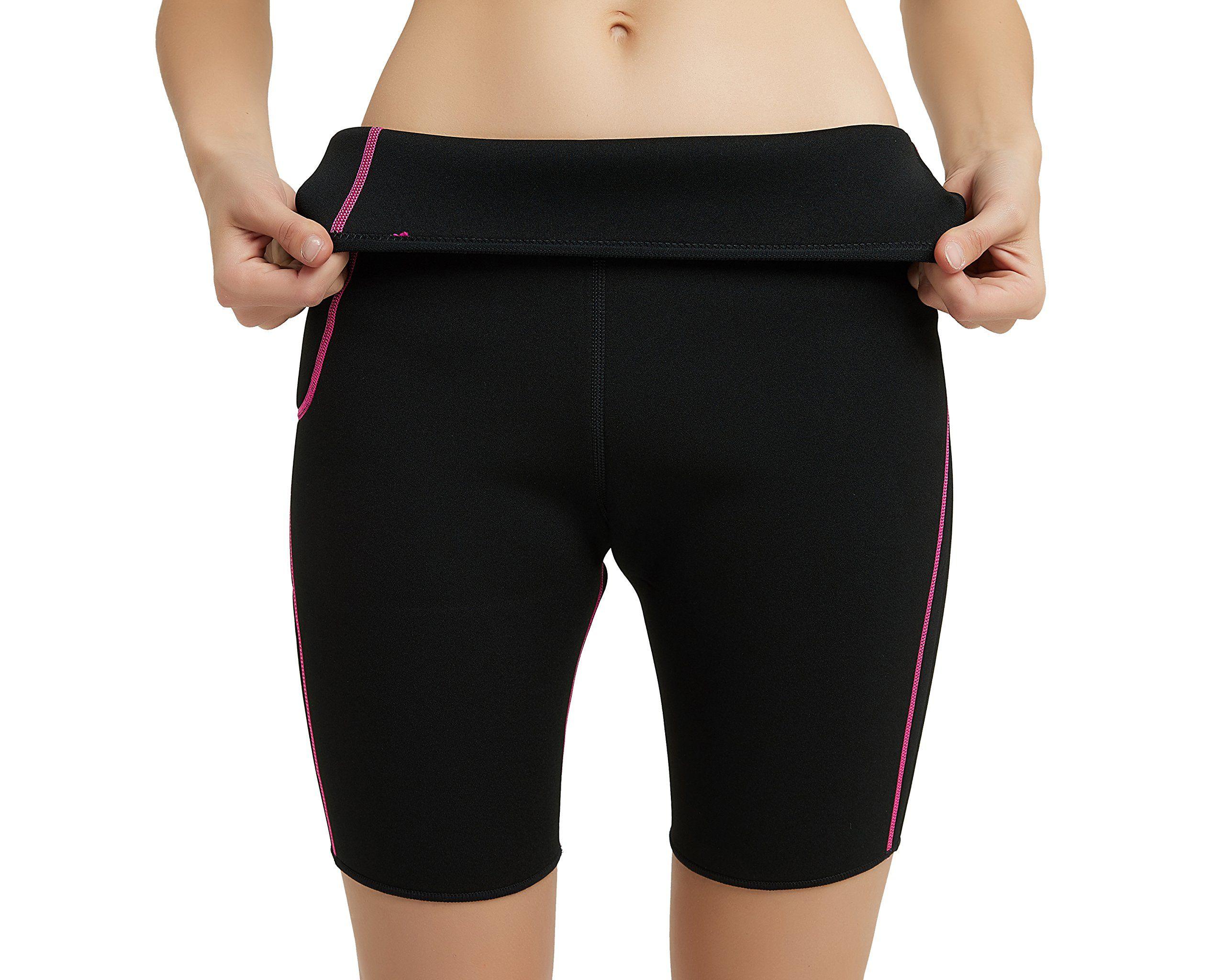 1582adbecae Hanmeimei Womens Slimming Pants Neoprene for Lose Weight Fat Burning Sweat  Sauna Capris Leggings Body Shapers