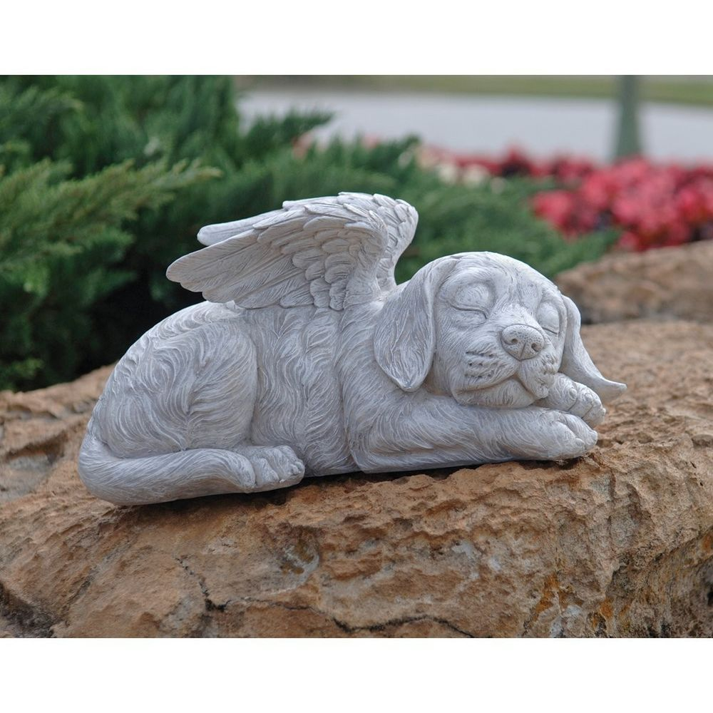 Dog Memorial Stone Angel Pet Statue Cemetery Headstones Best Friend Grave  Marker #DesignToscano