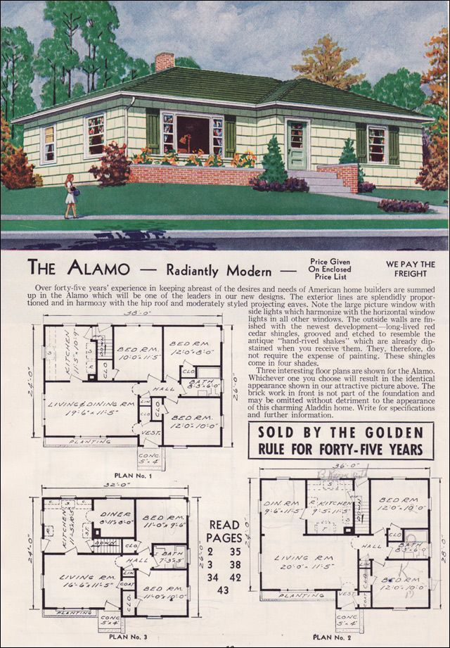 1950 Ranch Google Search Mid 20th Century House Plans House
