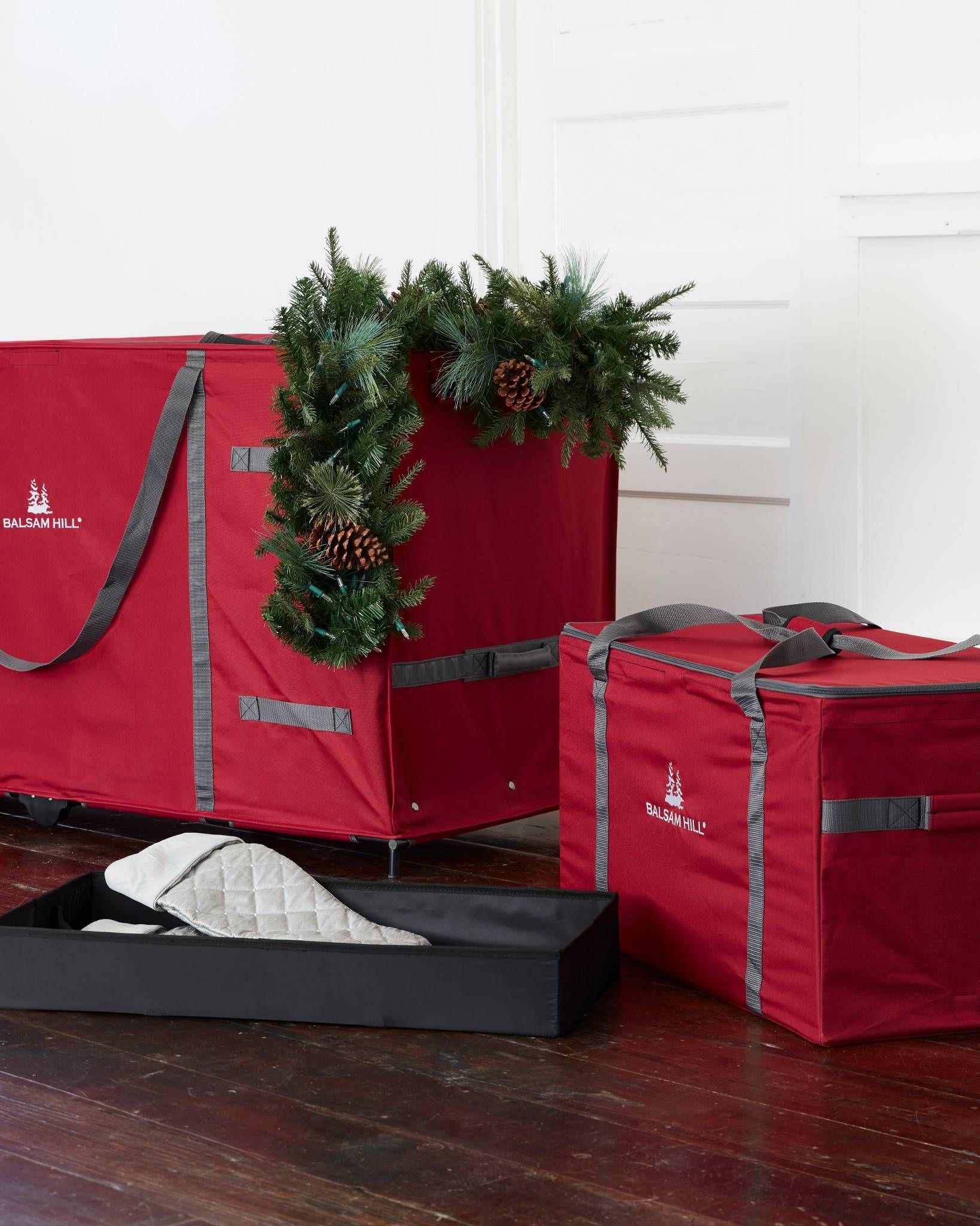 Multi Purpose Greenery Bag Balsam Hill Organized Christmas Decorations Balsam Hill Cosy Christmas