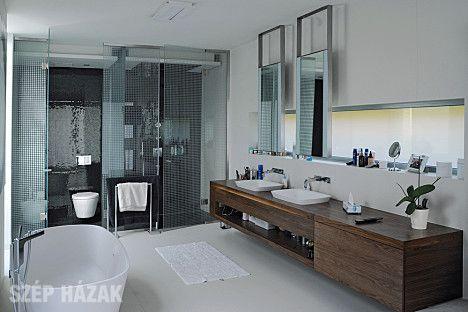 Fürdőszoba, a kényelem centruma - Szép Házak Online  Fürdő  Pinterest