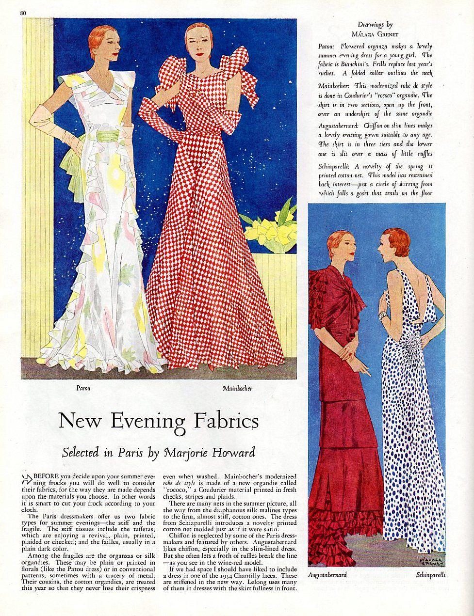 Womanus home companion june featuring evening dresses by patou