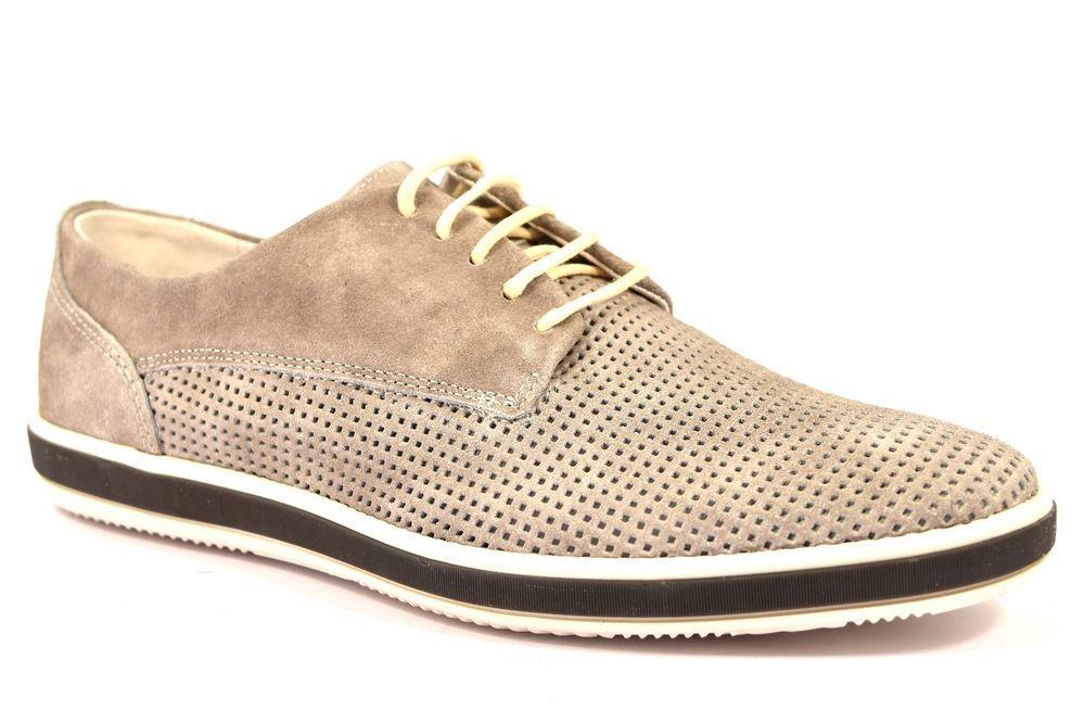 IGI & CO 76874 00 SCAMOSCIATO GRIGIO Uomo Sneakers Scarpa Inglesina Forata