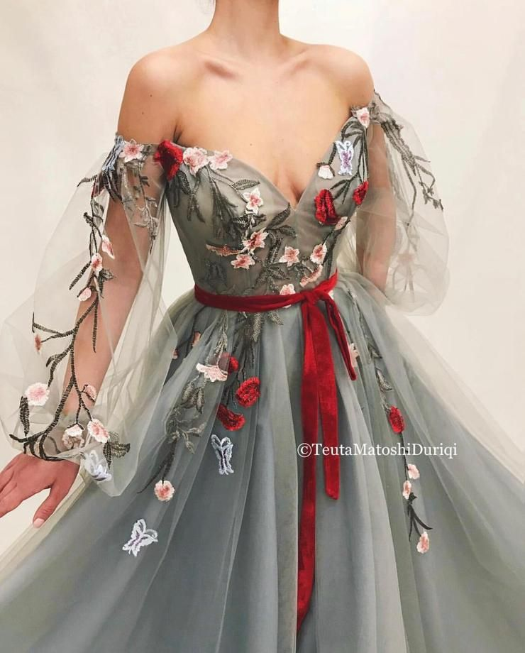 Blooming Alizarin Gown