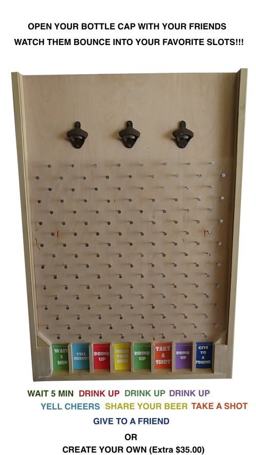 3FT Custom Bottle Cap Plinko – Pick Any Colors – Optional Logo - #3FT #Bottle #Cap #Colors #Custom #Logo #Optional #pick #Plinko #stain #bottlecaps