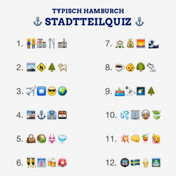 Hamburger Stadtteilquiz In Emojis Hamburg Hamburg Geschenk Und Quiz