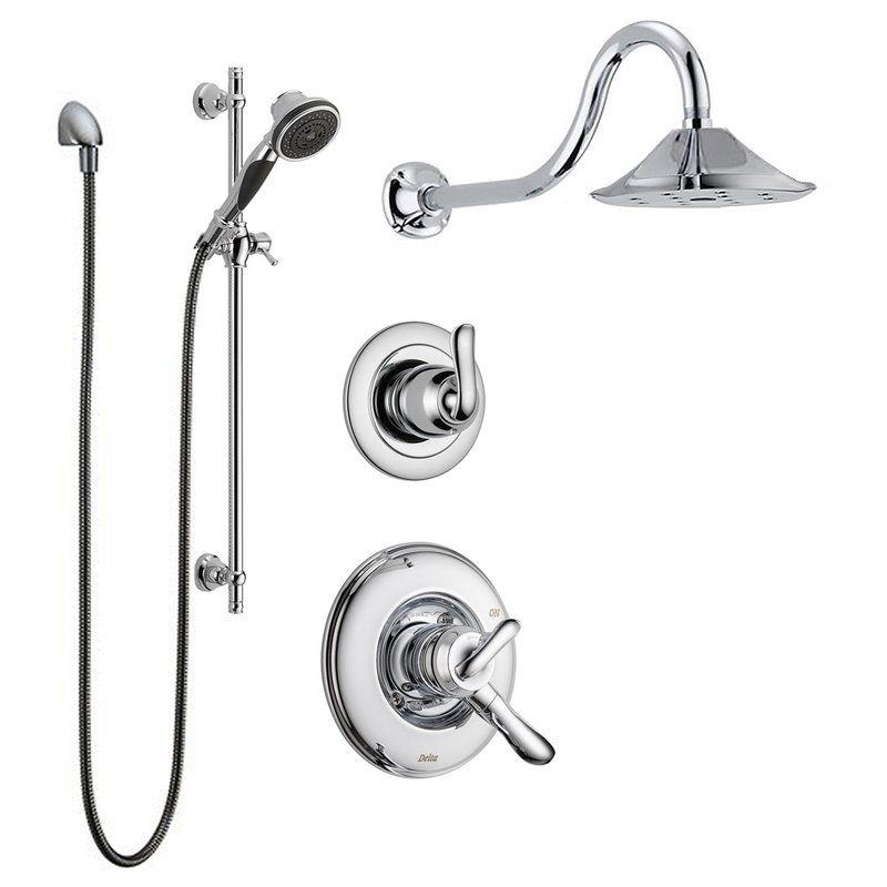 Delta Linden Monitor Shower Package Ch Chrome With Shower Head