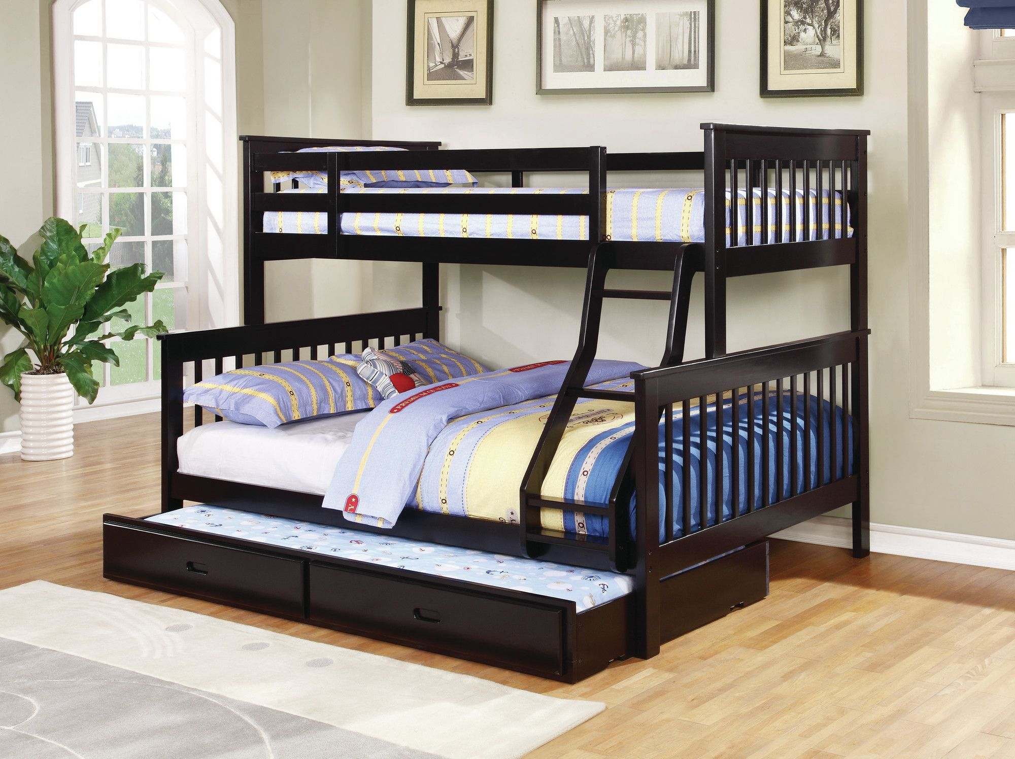 Ina Twin Over Full Headboard and Footboard