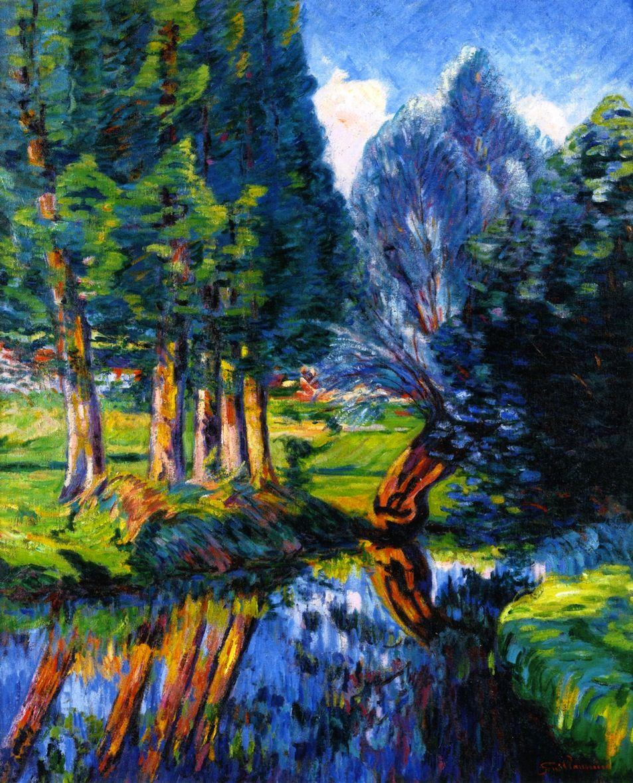 Armand Guillaumin Landscape At Breuillet 1890 Paysage